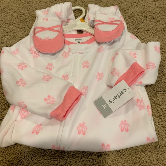 Carter's Other - NWT Footed Ballerina Fleece Pajamas. Size 3t